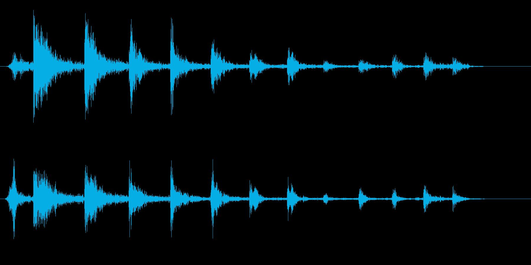 ビチビチビチ(弦をはじく音)の再生済みの波形