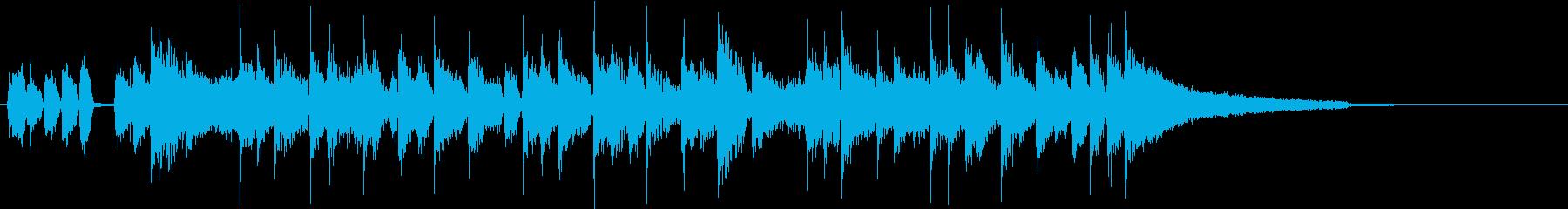明るいブラスサウンドのオープニング曲の再生済みの波形