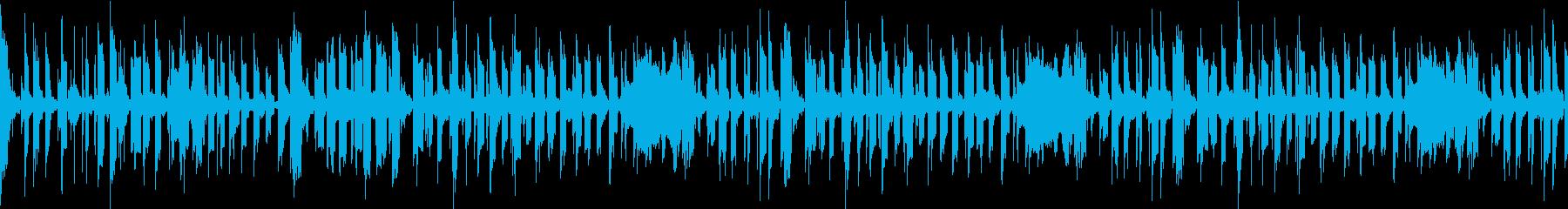 ほのぼのティータイムのようなループ曲の再生済みの波形