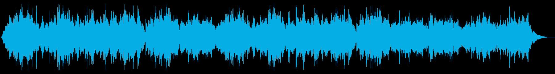 ハープで切なく神秘的な曲の再生済みの波形