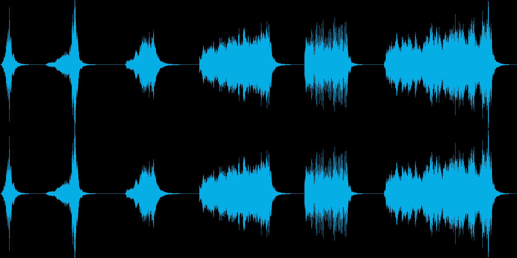 シンバル、スプラッシュ、ロール、6...の再生済みの波形