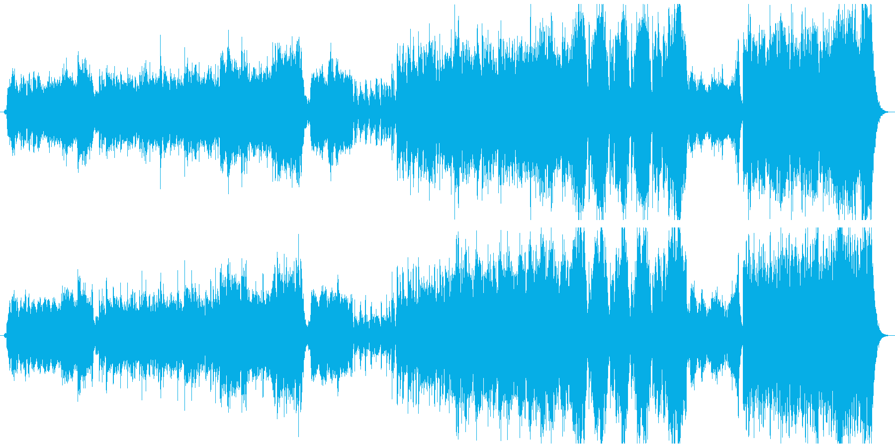 ファンタジー映画のメインタイトル曲の再生済みの波形