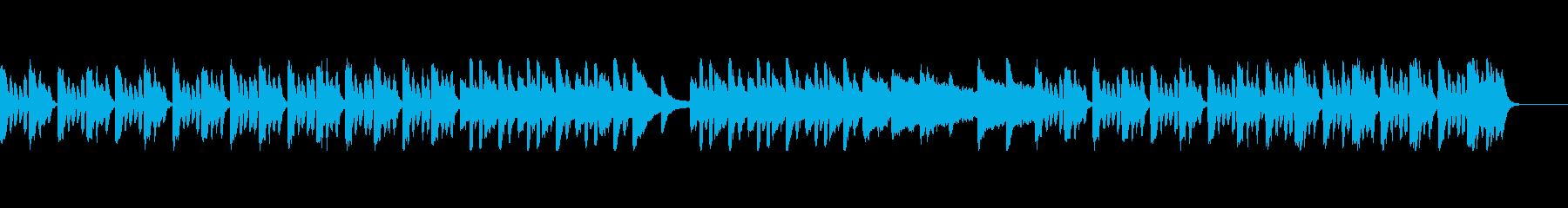 リズミカルで軽快なBGMの再生済みの波形