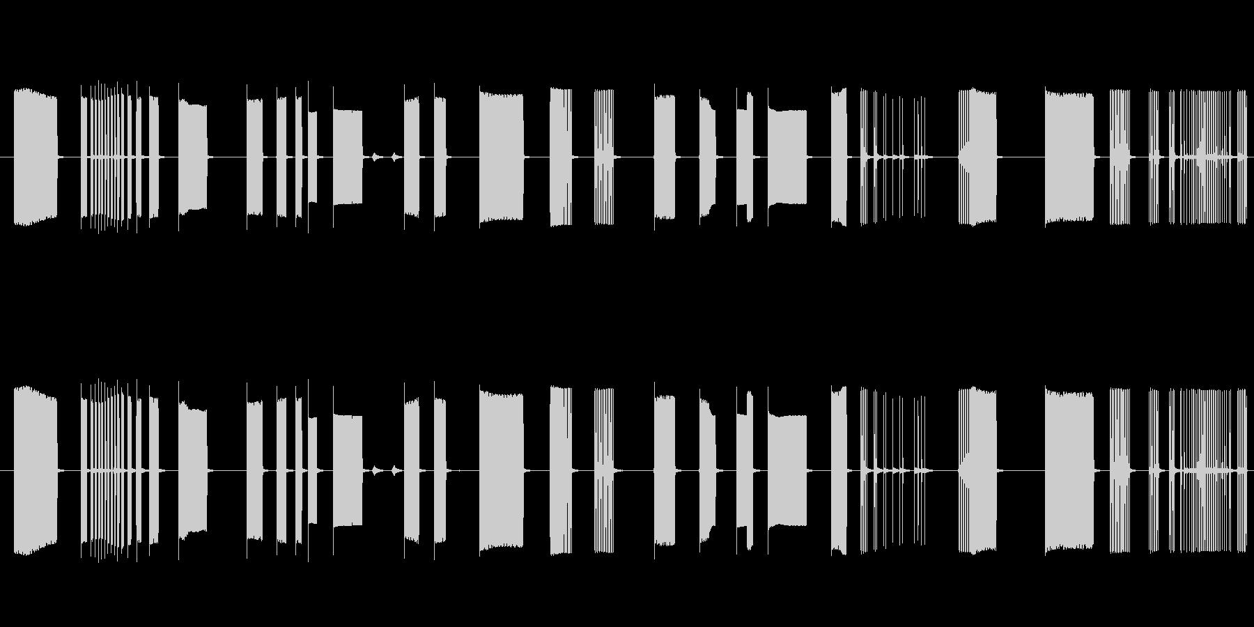 FX トーキングアーケード01の未再生の波形