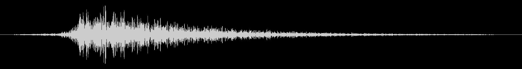打撃 リバービーダークインパクト01の未再生の波形