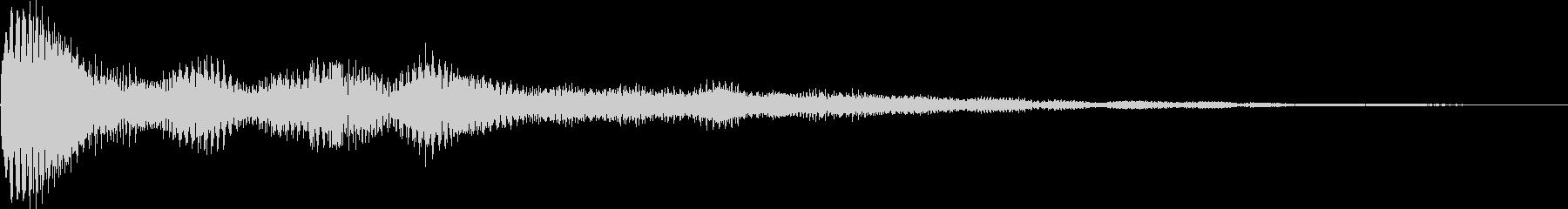 パワーン(タイトル、表示、ボタン)の未再生の波形