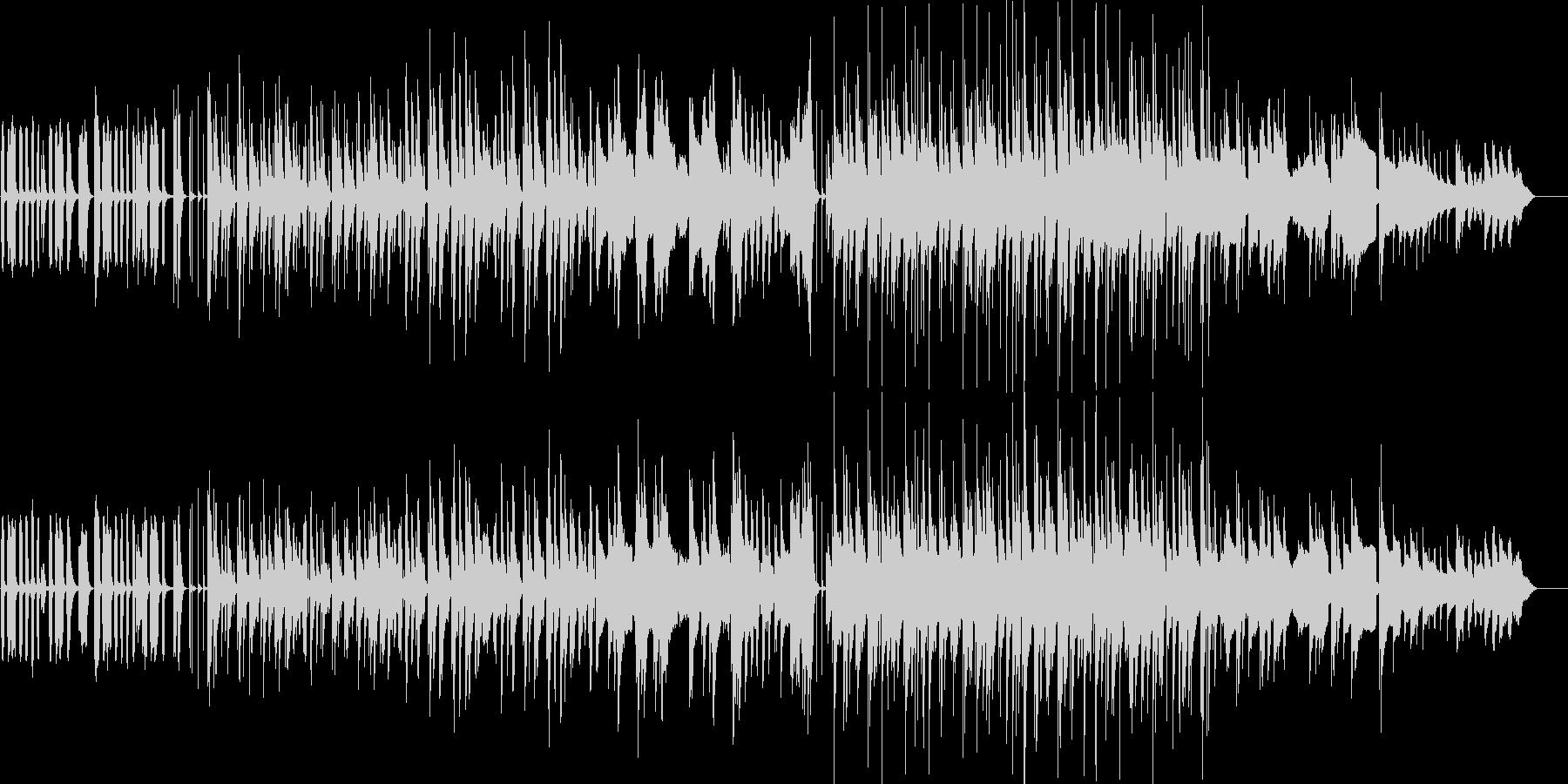 あほっぽく可愛らしい雰囲気のBGMの未再生の波形