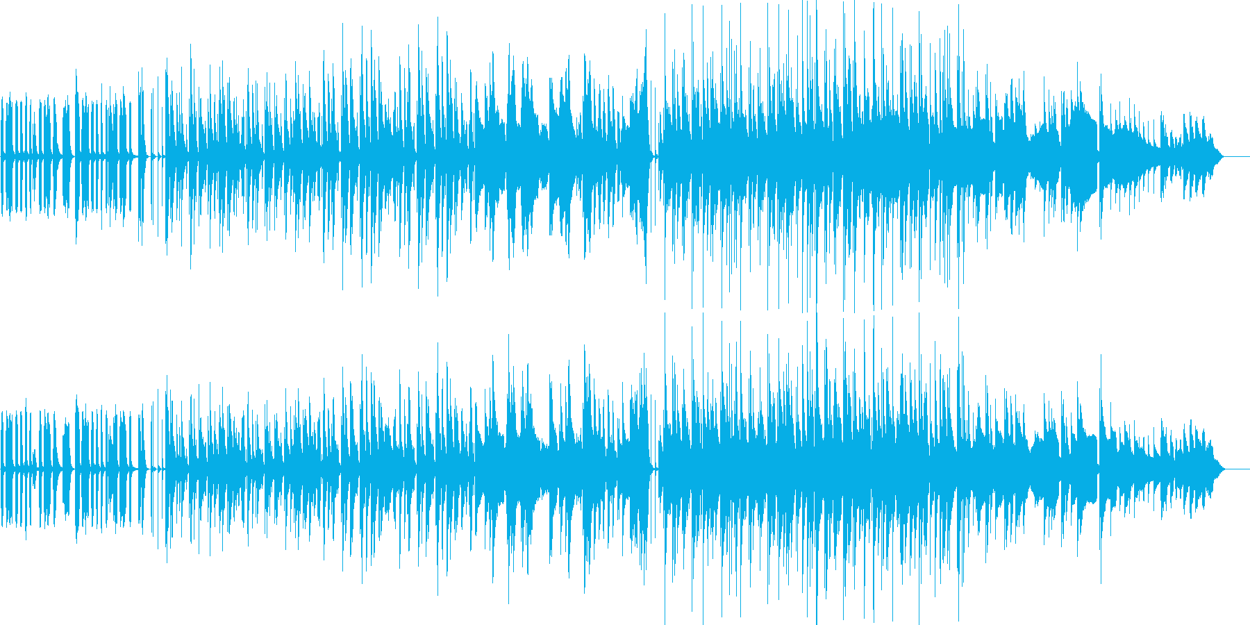 あほっぽく可愛らしい雰囲気のBGMの再生済みの波形