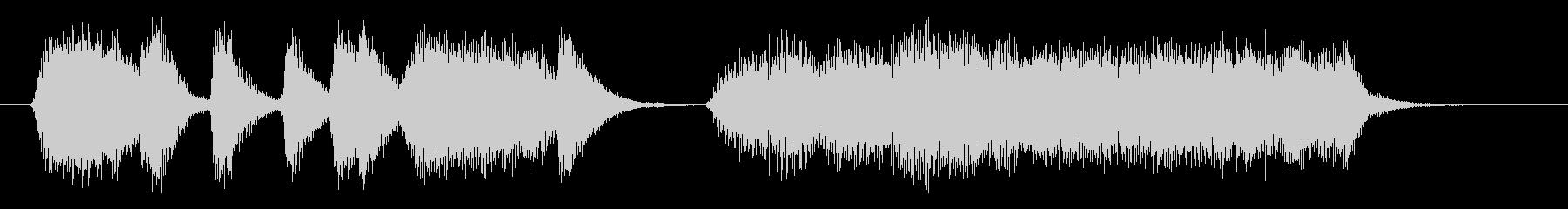 ジャズ トロンボーンのフレーズの未再生の波形