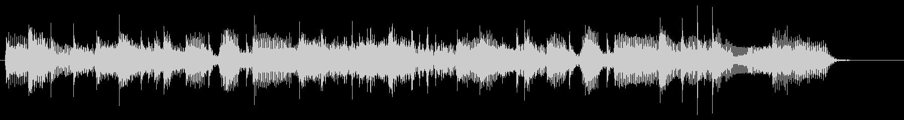 シャッフルリズムのロックBGMジングルの未再生の波形