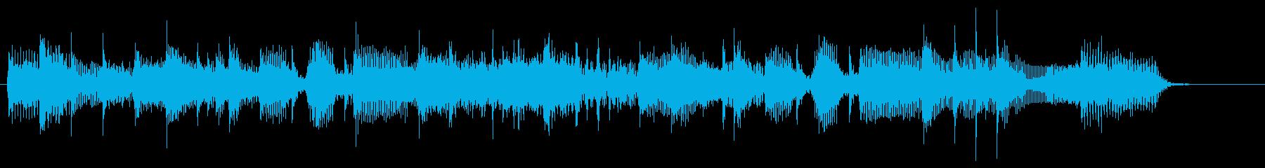 シャッフルリズムのロックBGMジングルの再生済みの波形