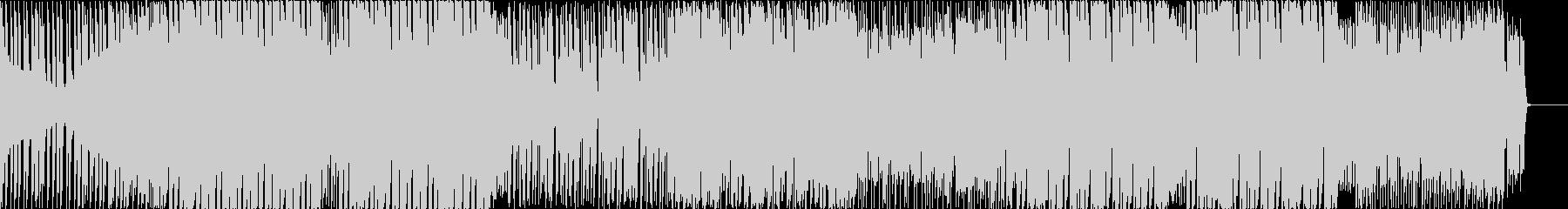 アップテンポなシンセとボイスのEDMの未再生の波形