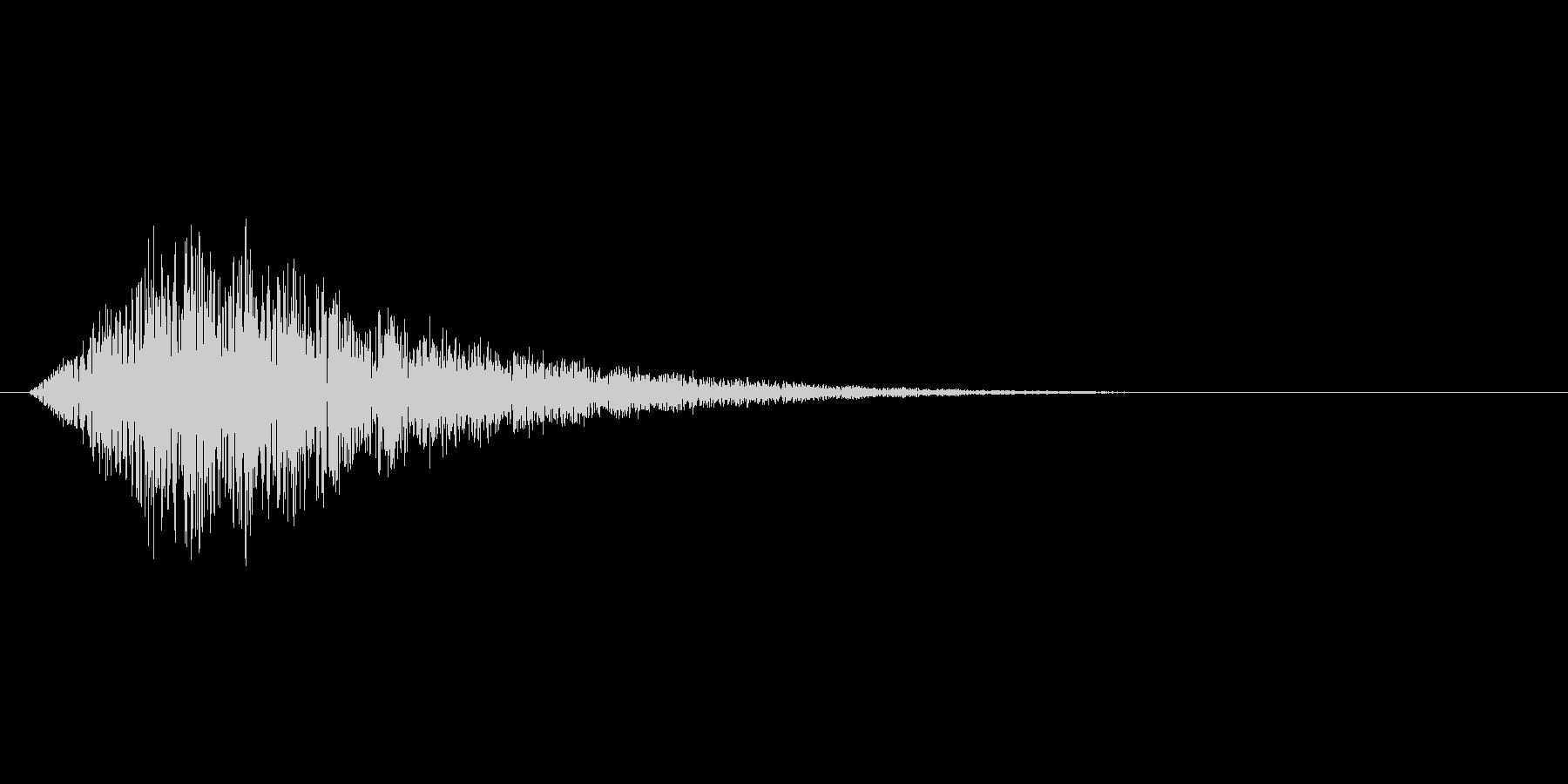 チャージや回復、ゲージ上昇のような効果音の未再生の波形
