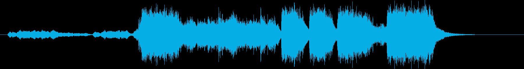 ファンファーレですの再生済みの波形
