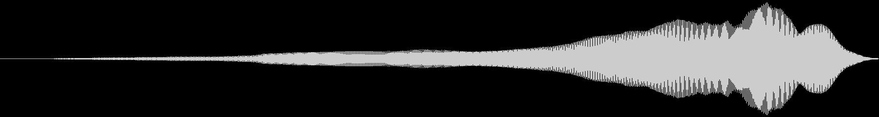取る風 オノマトペ(上降)ヒュィッの未再生の波形