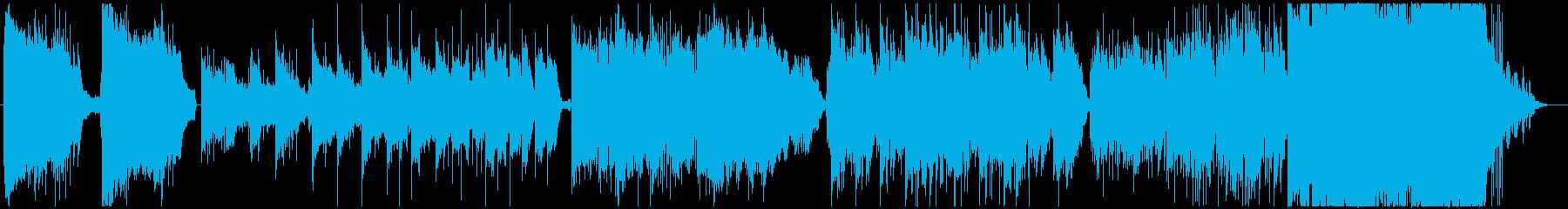 神秘的、幻想的なクワイア入りのBGMの再生済みの波形