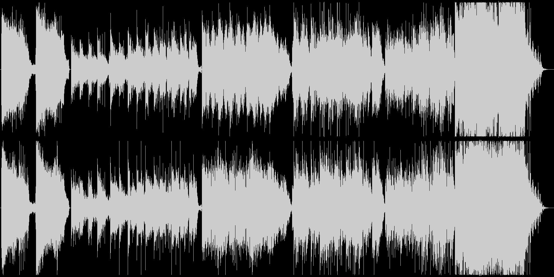 神秘的、幻想的なクワイア入りのBGMの未再生の波形