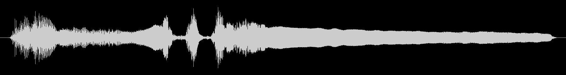 男性:ウルフハウルの未再生の波形