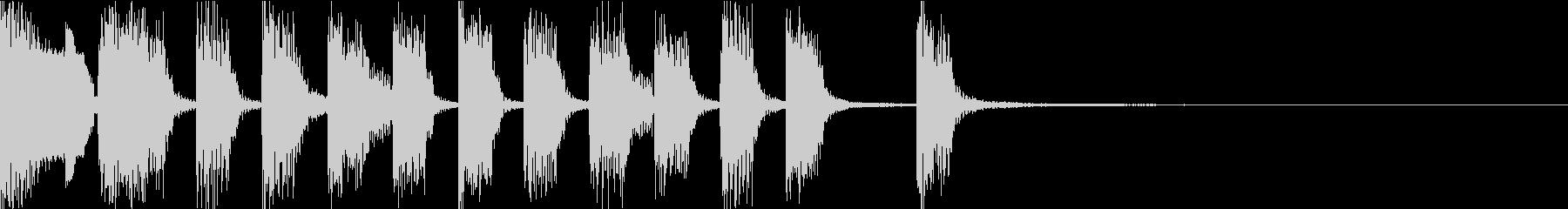アイキャッチ向けコミカルジングルの未再生の波形