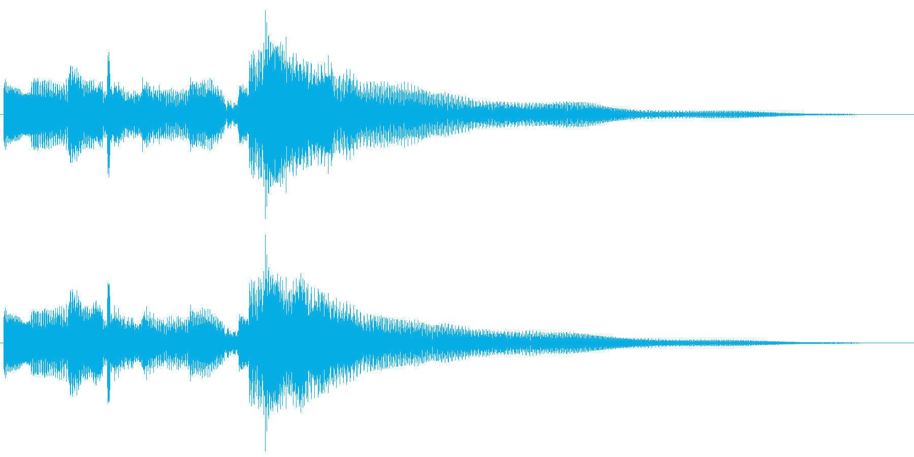 クリーントーン ギターフレーズ 場面転換の再生済みの波形