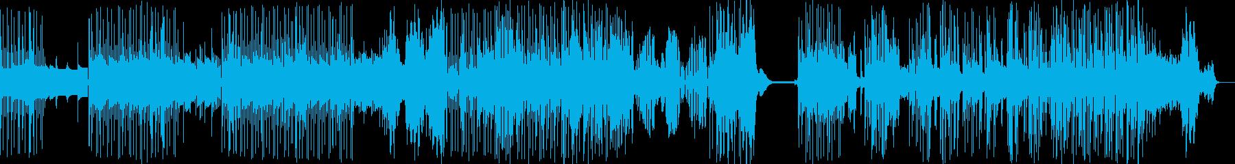 ゆったりと揺れるカリンバ・ダブの再生済みの波形