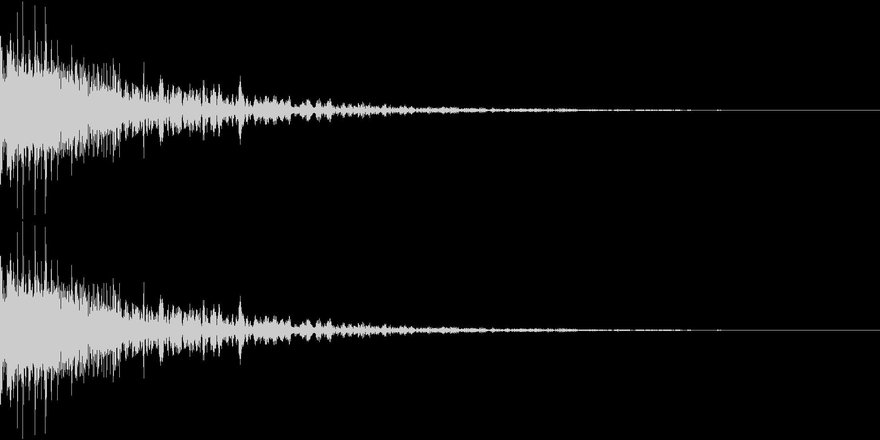 RPGでステータスなどが下がる音の未再生の波形