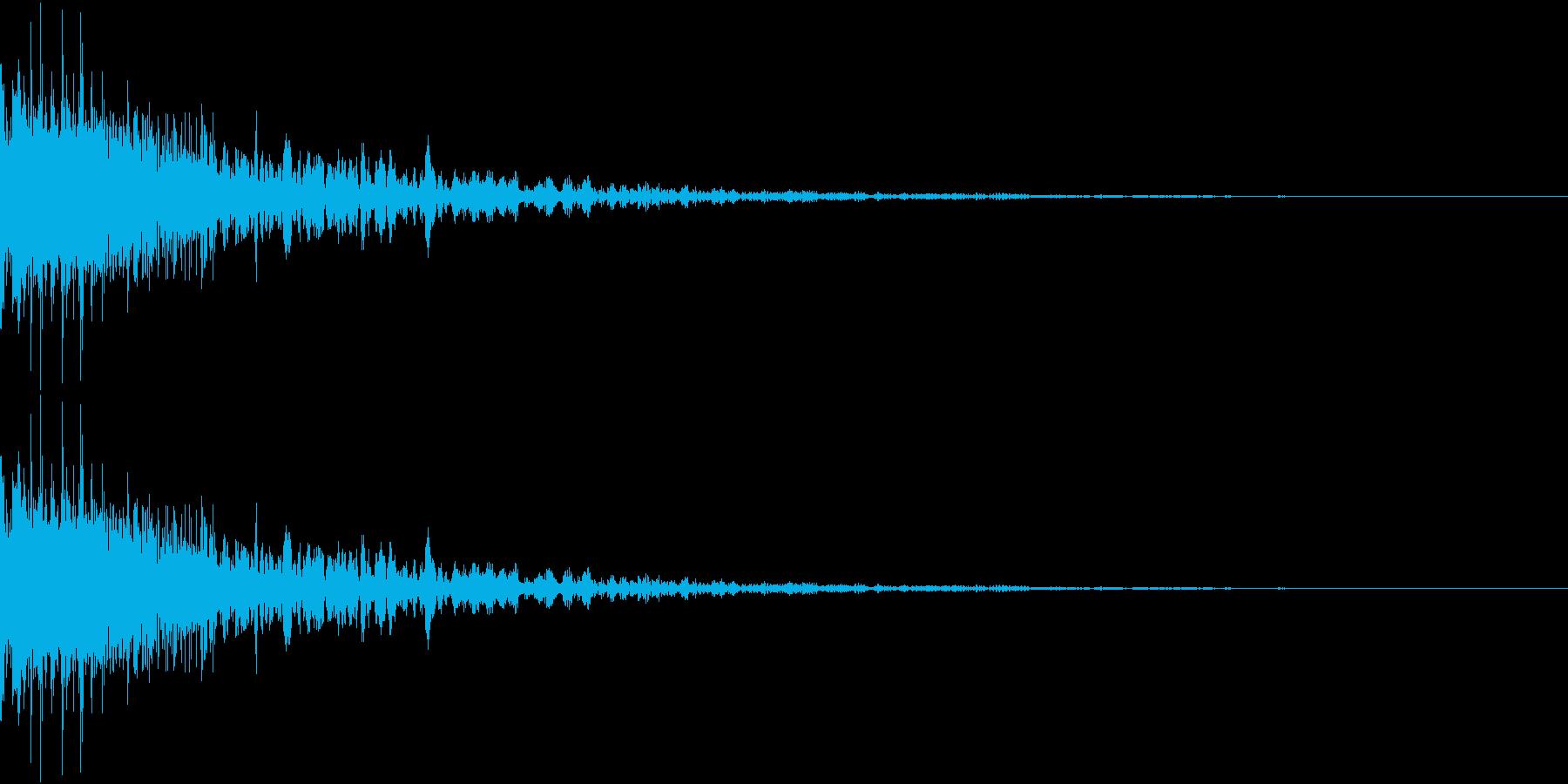RPGでステータスなどが下がる音の再生済みの波形
