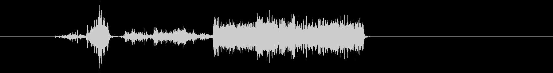 通信が途切れる音の未再生の波形