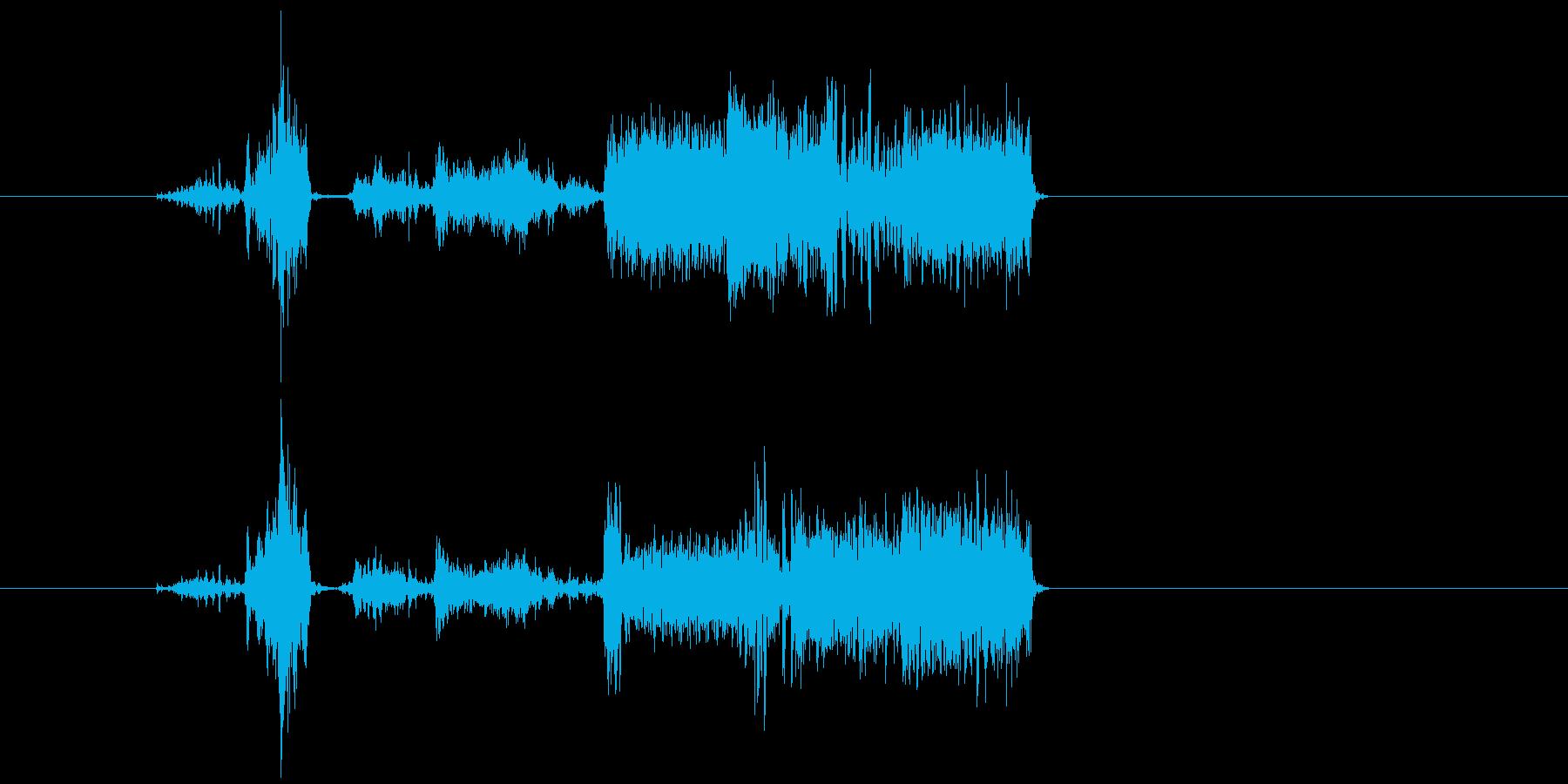 通信が途切れる音の再生済みの波形