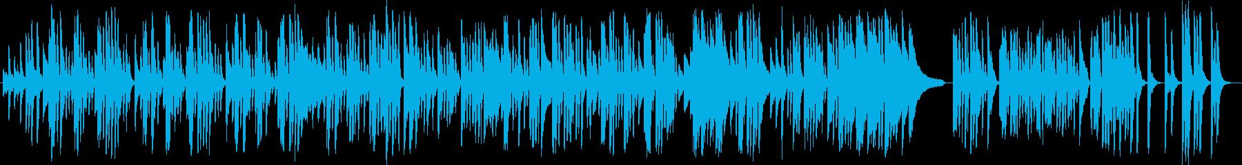 可愛らしい、転がるようなピアノ曲の再生済みの波形