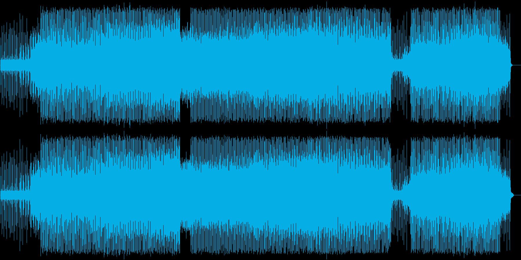 ビヨンビヨンうねるベース、アシッドハウスの再生済みの波形