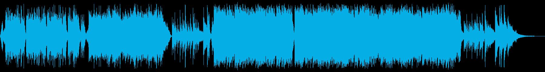 感動的な琴とチェロの和風バラードbの再生済みの波形
