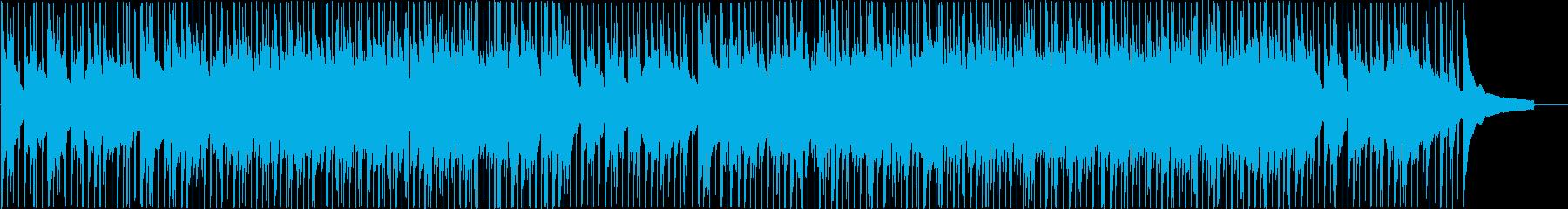 アコースティック系落ち着いたオープニングの再生済みの波形