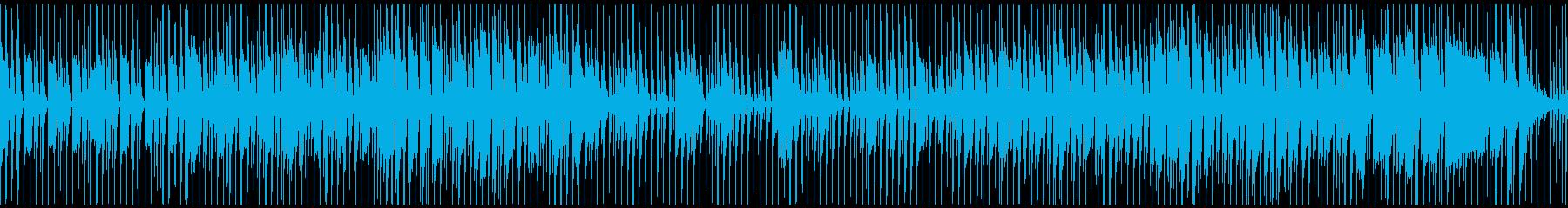 軽快なステップでお散歩するようなBGMの再生済みの波形