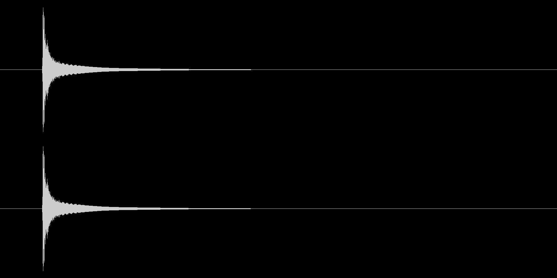 携帯電話 通知音01-2の未再生の波形