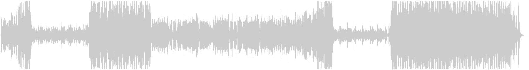 ポップで疾走感のあるオーケストラBGMの未再生の波形