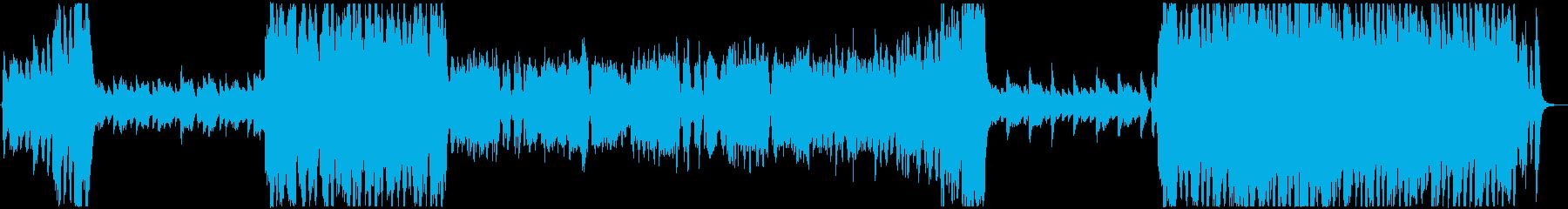 ポップで疾走感のあるオーケストラBGMの再生済みの波形