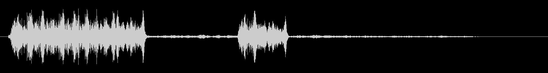 ネズミの鳴き声に似た音の未再生の波形