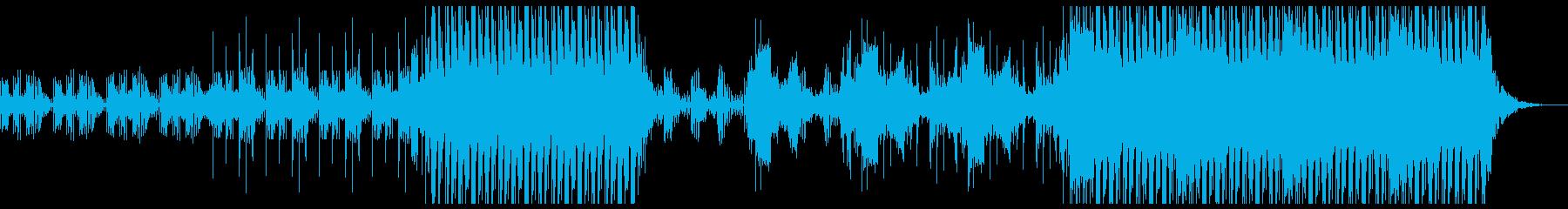 レトロなエレクトロな音が印象的なBGMの再生済みの波形
