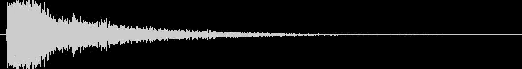 テューン(アイテム使用、エフェクト有り)の未再生の波形