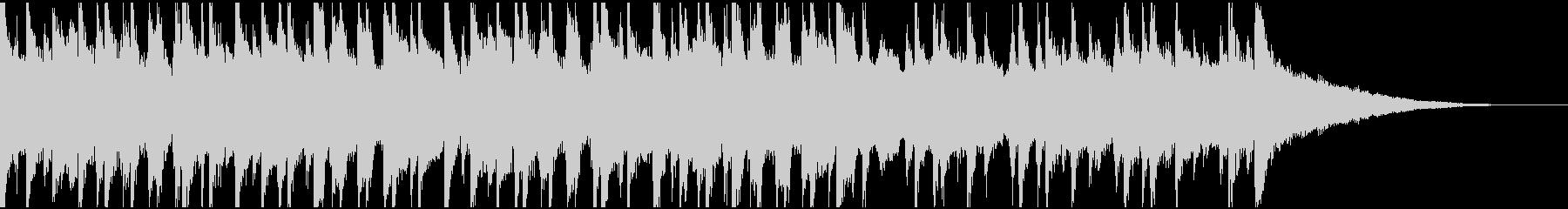 30秒ウクレレ、リコーダーの楽しい楽曲の未再生の波形
