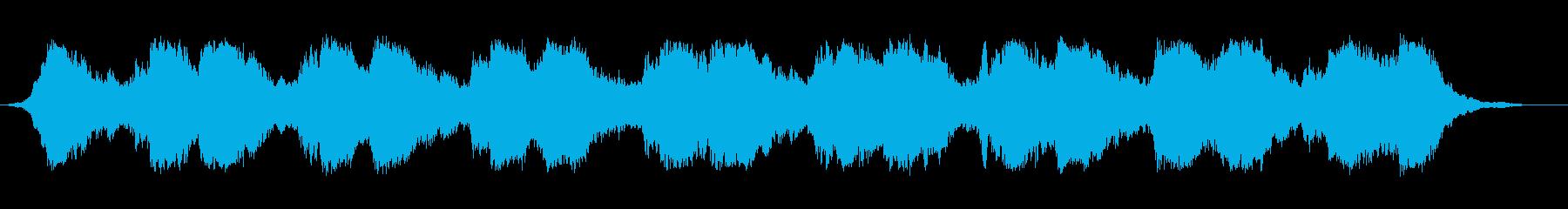 ホラー&サスペンスな雰囲気のBGMの再生済みの波形