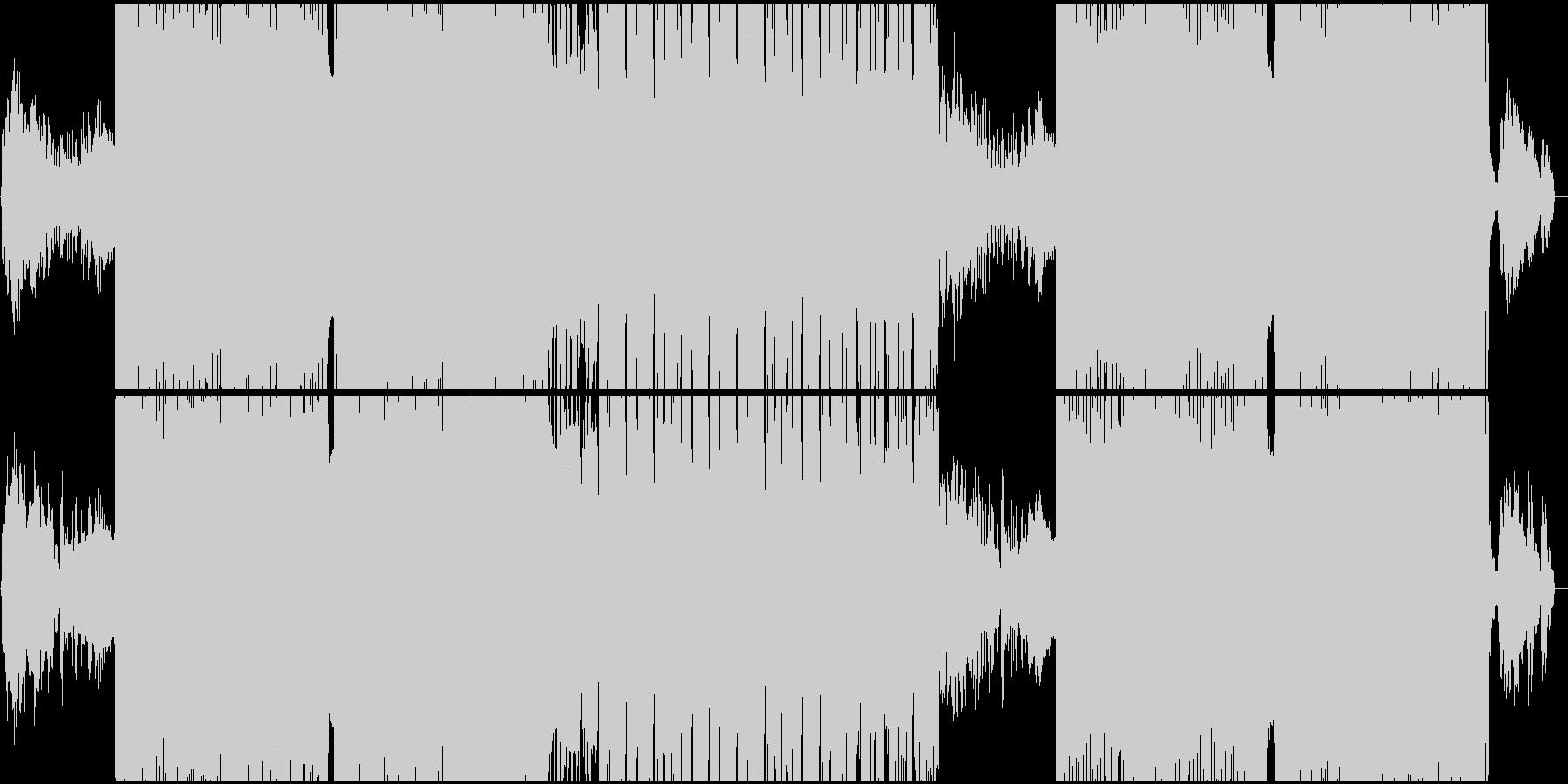 ゆったりとした明るいEDMの未再生の波形