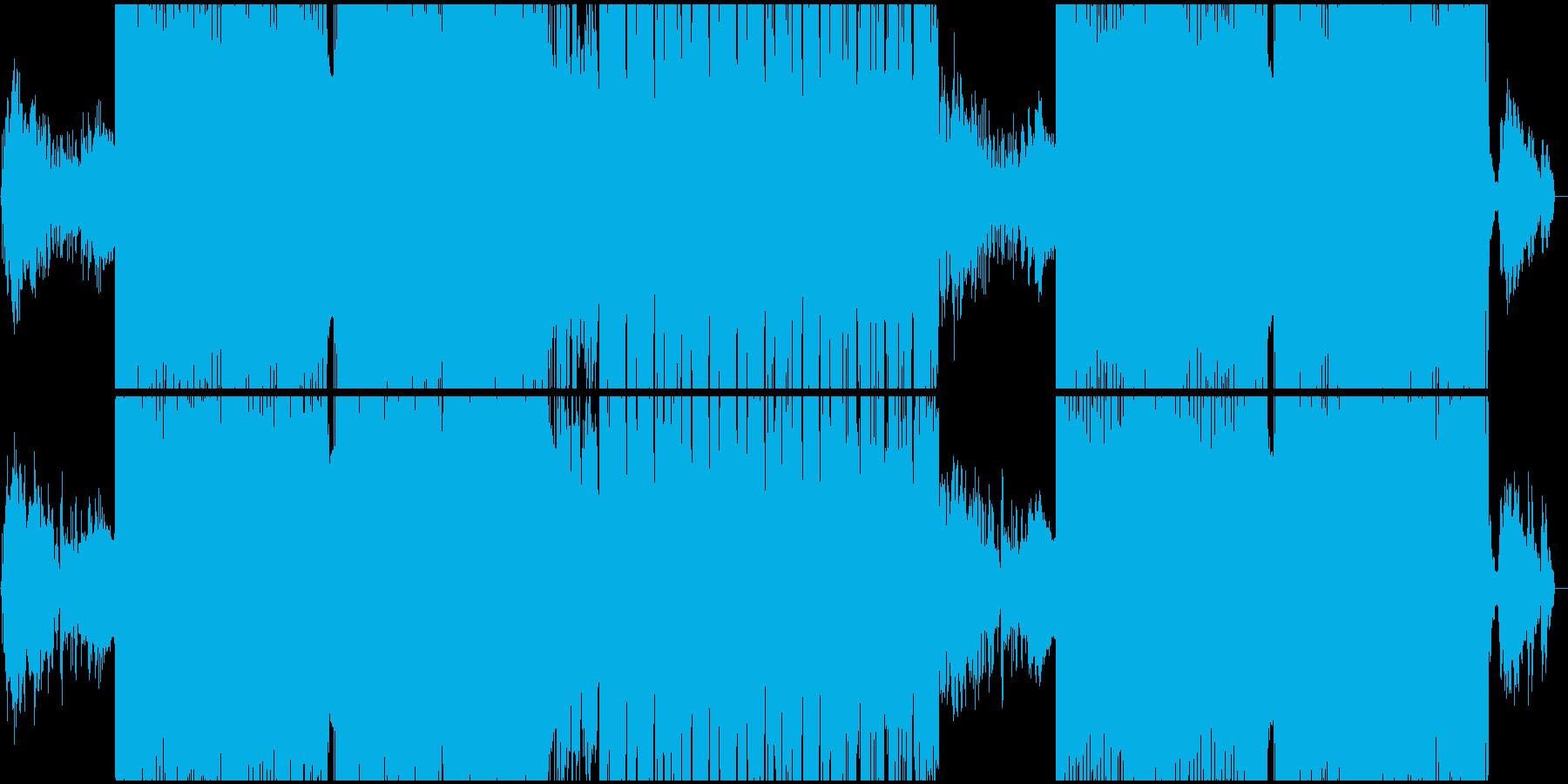ゆったりとした明るいEDMの再生済みの波形