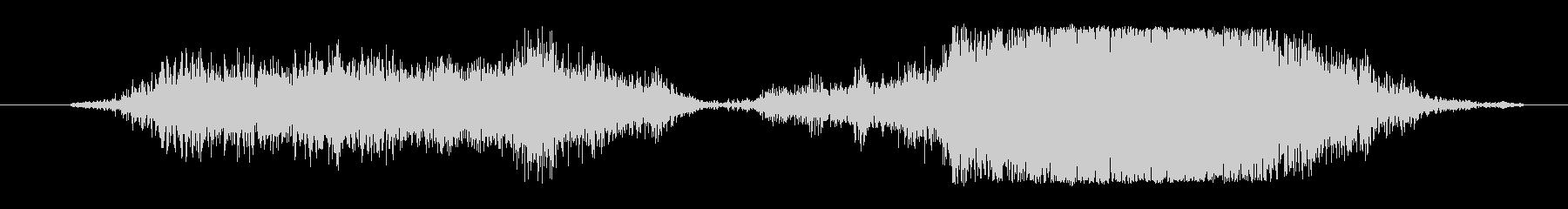 ボウッボボボボゥ(炎が舞い上がる音)の未再生の波形