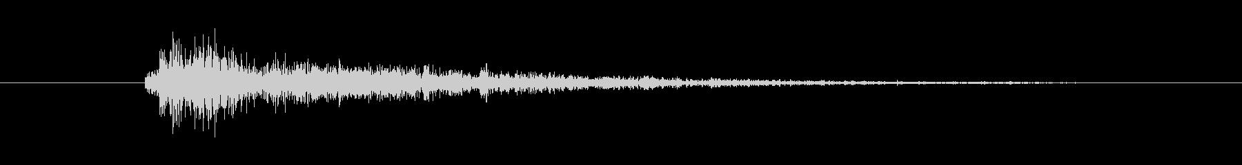 剣 ラトルヒット01の未再生の波形