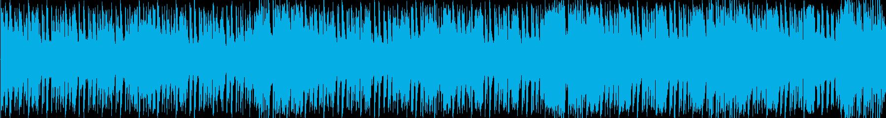 ファンクのリズムは、巨大なブラスの...の再生済みの波形