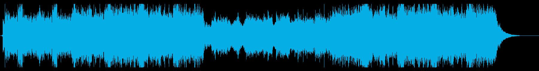 ホルンが壮大で堂々とした曲の再生済みの波形