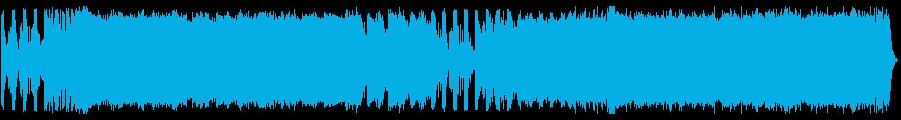 幻想とわびさびを感じさせる曲の再生済みの波形
