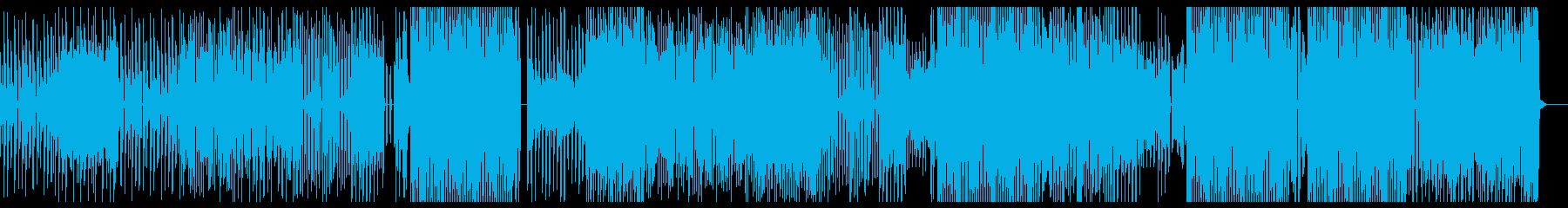 ダークな雰囲気のエレクトロビートの再生済みの波形